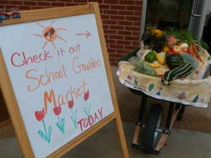 School Garden Market Sign