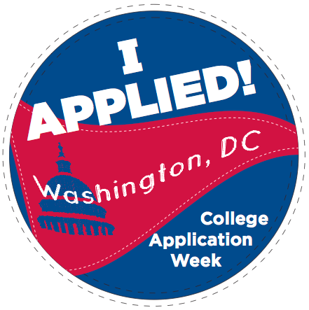 I applied to college button